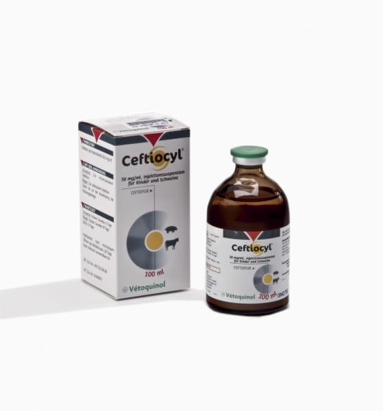 Ceftiocyl für Rinder und Schweine 50 mg/ml Injektionssuspension 100 ml