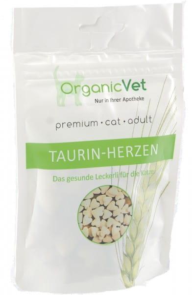 OrganicVet KATZE Leckerli TAURIN-HERZEN 60 g Beutel